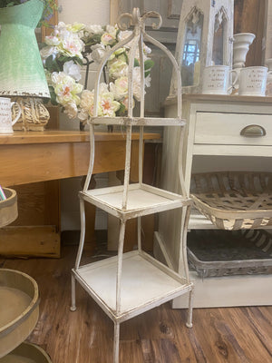 Distressed 3 Tiered Shelving Unit - Allure Boutique WY