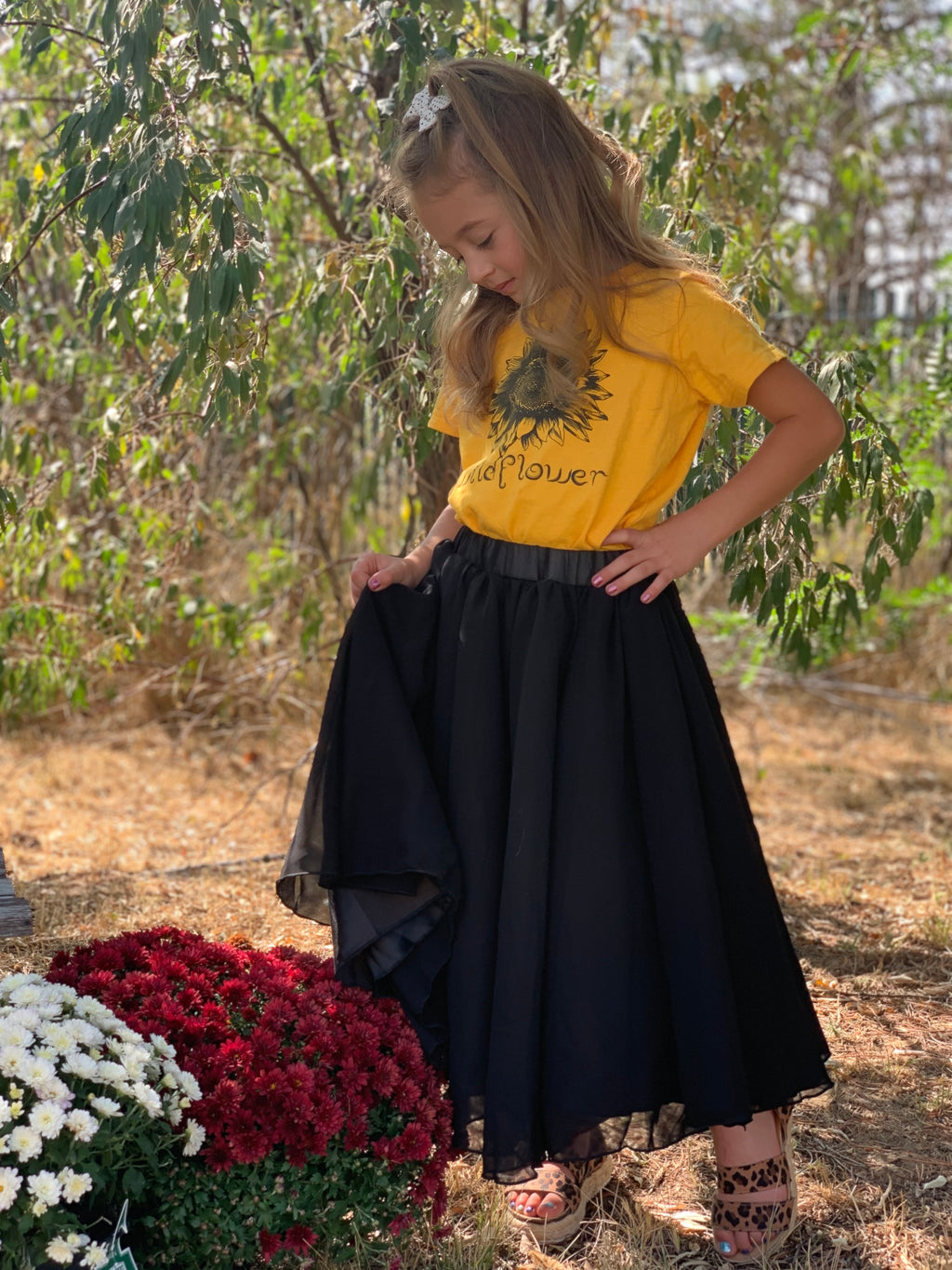 Kids Aurora Black Maxi Skirt - Allure Boutique WY