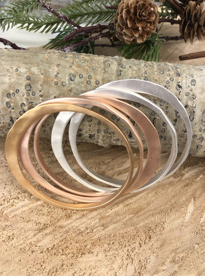 Matt Finish Bangle Bracelet Set - Allure Boutique WY
