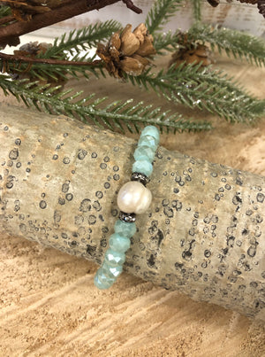 Mint Glass Bead Bracelet - Allure Boutique WY