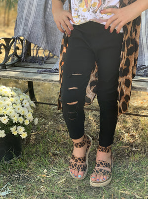 Roxie Slashed Jeggings Black - Allure Boutique WY