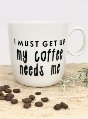 Stoneware Mug I Must Get Up - Allure Boutique WY