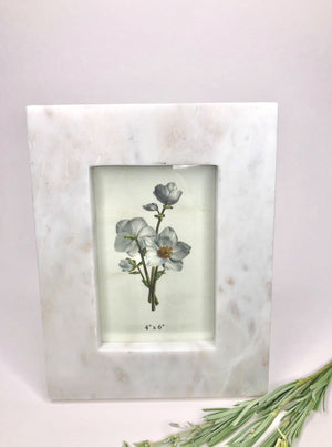 White Marble Photo Frame - Allure Boutique WY