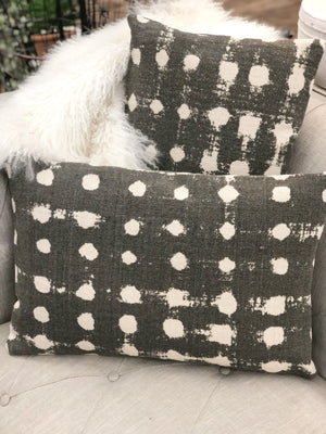 Cotton Polka Dot Pillow Charcoal - Allure Boutique WY