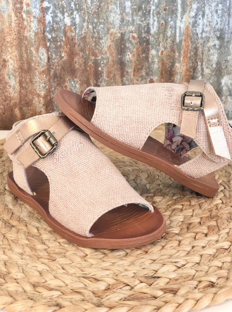 Kids Defsie Blush Racher Canvas Sandal - Allure Boutique WY