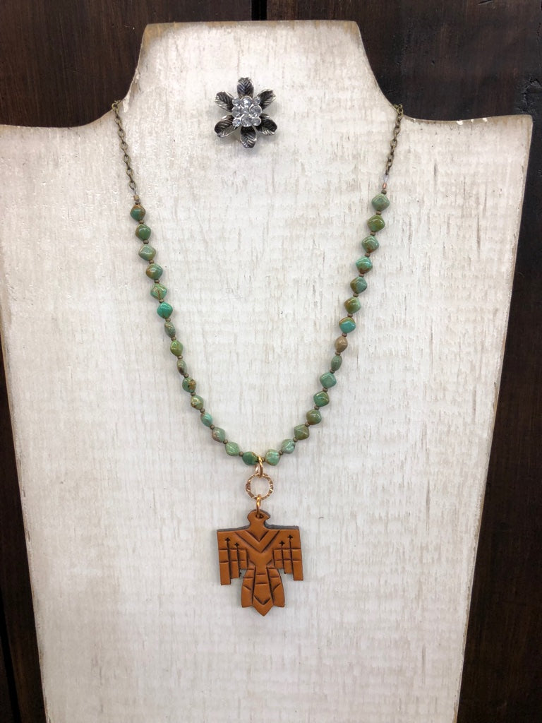 Turquoise & Thunderbird Necklace - Allure Boutique WY