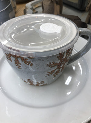 Winter Snowflake Soup Mug - Allure Boutique WY
