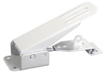 JR Products 10845 White Powder Coated Fold Down Camper Latch and Catch