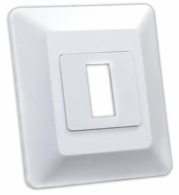 JR Products 13605 White Single Switch Base and Face Plate
