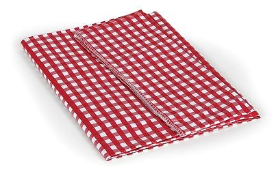 "Camco 51019 Camping Essentials 52"" x 84"" Red and White Vinyl Tablecloth"