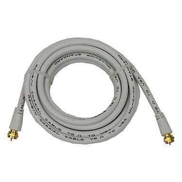 Prime Products 08-8021 6' White RG-6U Round Coaxial Cable