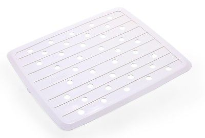 "Camco 43720 10"" x 11-3/4"" Mildew Resistant White Sink Mat"