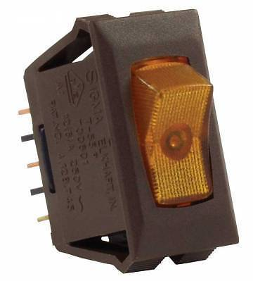 JR Products 12545 Amber Illuminated On/Off Switch with Brown Bezel