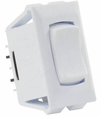 JR Products 12695 White 3 Pin Mom-On/Off/ Mom-On Switch with Bezel