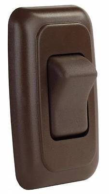 JR Products 12135 Brown Single On/Off Switch with Plate