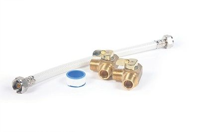 "Camco 35963 12"" Permanent By-Pass Winterizng Kit with Brass Valves"