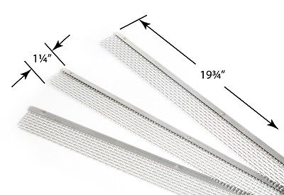 "Camco 42148 1-1/4"" x 19-3/4"" Refrigerator Vent Flying Insect Screen - 3pk"