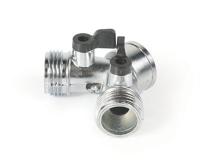 Camco 20113 Metal Water Hose Y-Style Shut-Off Valve
