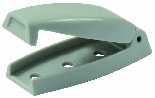 JR Products 10244 Gray Bullet Style Baggage Door Catches - 2pk