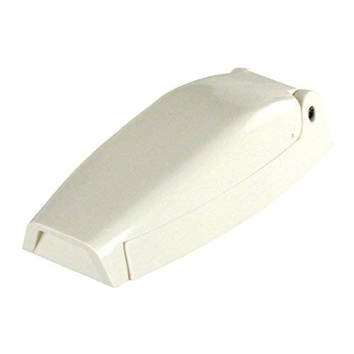 JR Products 10254 Colonial White Bullet Style Baggage Door Catches - 2pk