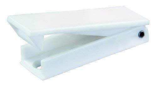 JR Products 10355 White Square Style Baggage Door Catches - 2pk