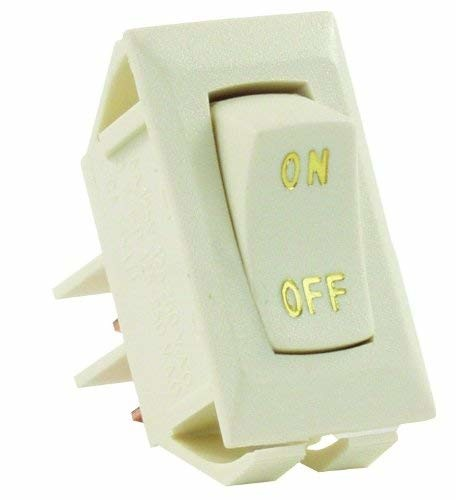 JR Products 12615 Ivory Labeled On/Off Switch