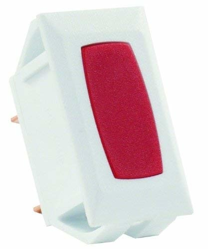 JR Products 12755 Red Indicator Light with White Bezel