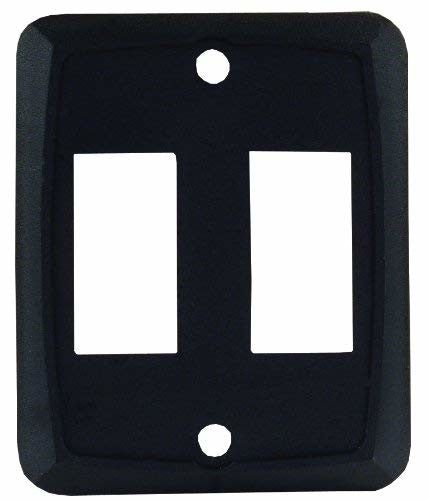 JR Products 12885 Black Double Face Plate
