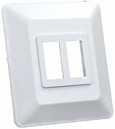 JR Products 13615 White Double Switch Base and Face Plate