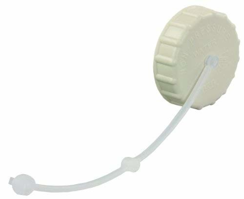 JR Products 222CW-A Colonial White Gravity Water Fill Cap with Strap