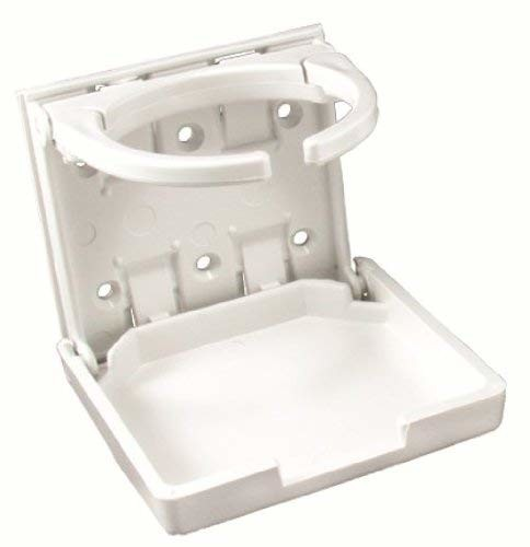 JR Products 45624 White Adjustable Cup Holder