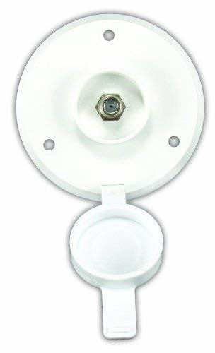 JR Products 476-B-2-A Polar White Exterior Cable TV Plate