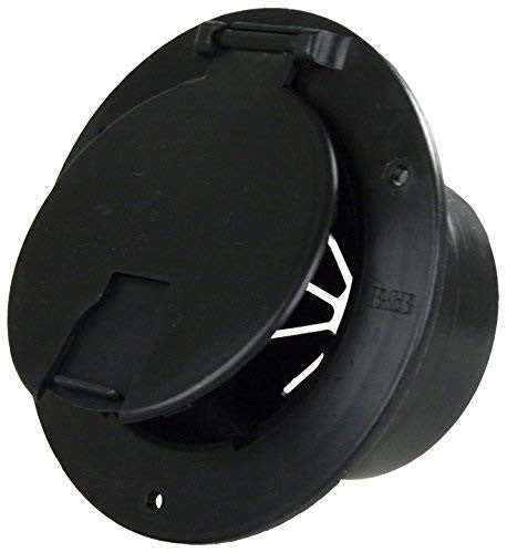 JR Products 541-3-A Black Deluxe Round Electric Cable Hatch