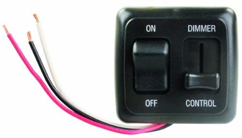 JR Products 15225 Black LED Dimmer/On/Off Switch