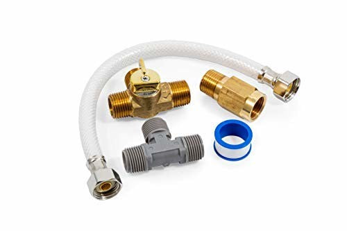 "Camco 35953 8"" Permanent By-Pass Kit with Brass Valves"