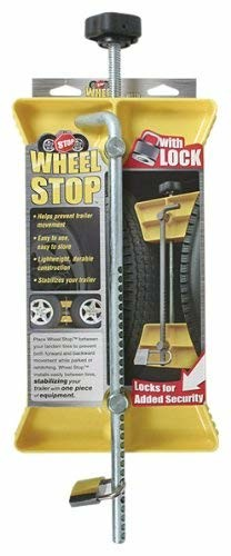 Camco 44642 Adjustable Tire & Wheel Stop with Padlock