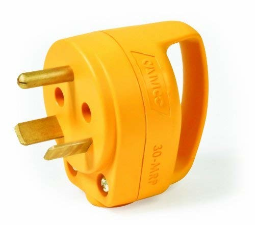Camco 55283 PowerGrip Mini 30A Male Electrical Cord Plug End with Handle - 1pk