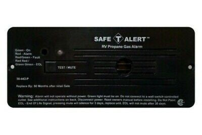 Safe-T-Alert 30-442-P-BL Black Flush Mount Propane Gas Alarm
