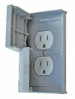 Valterra 3780SCREC Diamond Grey Waterproof Thermoplastic Dual Outlet