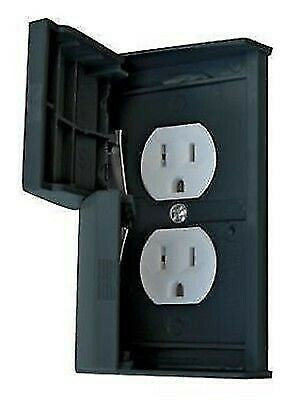 Valterra 52522SCREC Diamond Black Waterproof Thermoplastic Dual Outlet