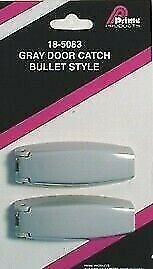 Prime Products 18-5083 Gray Bullet Compartment Door Catch - 2pk