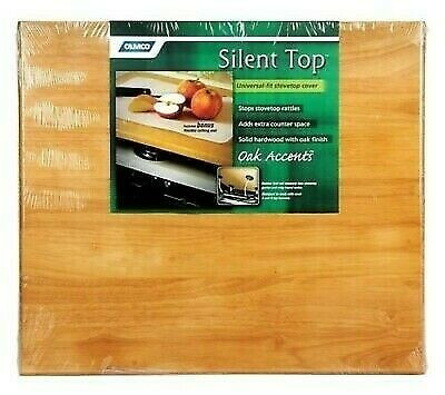 "Camco 43521 Oak Accents 19-5/8"" x 17-1/2"" Harwood Universal Silent Top"