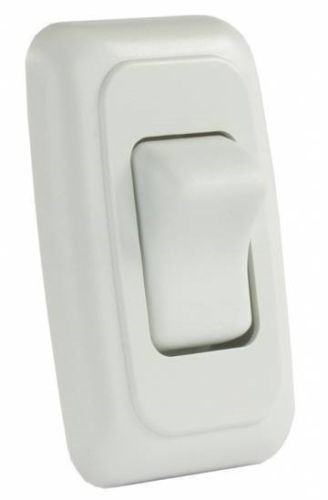 JR Products 12005 White Single On/Off Switch with Plate