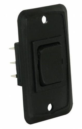 JR Products 12825 Black 6 Pin Mom-On/Off/ Mom-On Switch with Plate