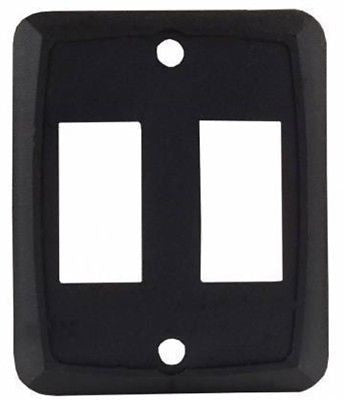JR Products 12875 White Double Face Plate