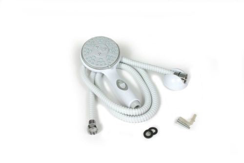 Camco 44023 High Flow Exterior White Shower Head with On/Off Switch