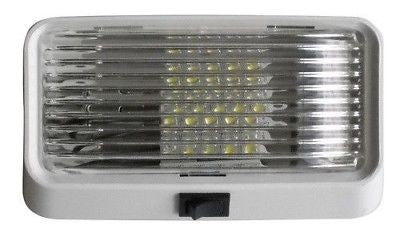 "Valterra 52723 Diamond 6"" LED White Porch Light with Switch"