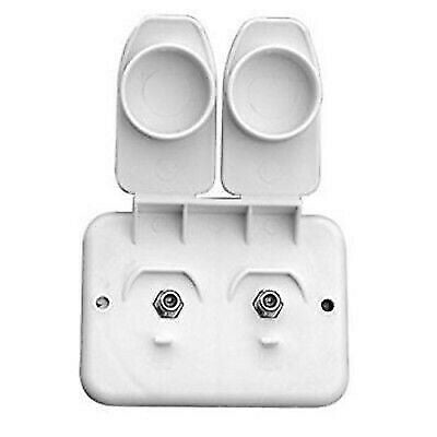 Prime Products 08-6212 White Exterior Duplex Cable Outlet