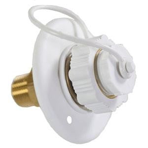 "Aqua-Pro 27893 Polar White Plastic 3"" City Water Fill"