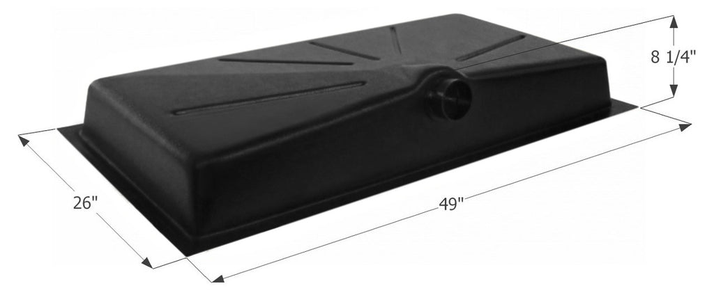 Icon 01587 ABS Plastic 25 Gallon Side Drain Holding Tank with 1-1/4""